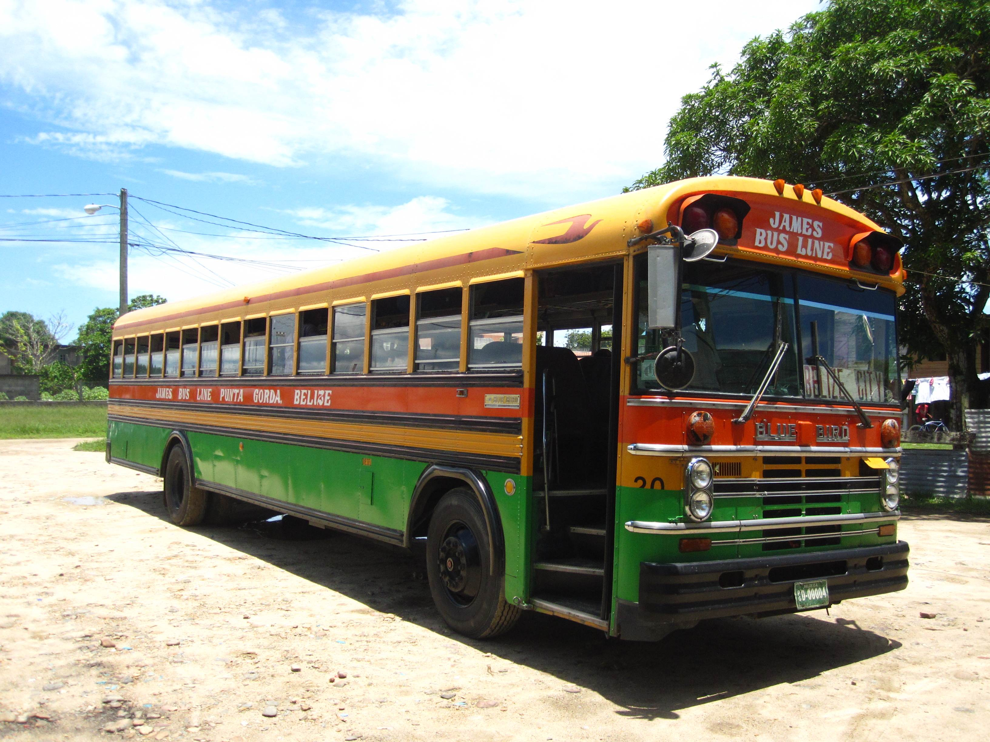 A Typical Bus in Belize